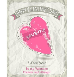 background with valentine heart and wishes text vector image