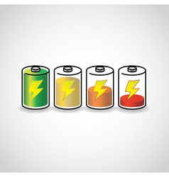 Battery life vector image