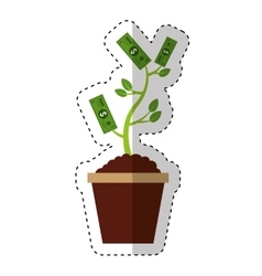 bills plant isolated icon vector image