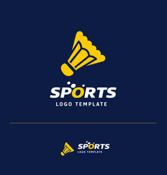 Business card design with sports logo and blue vector