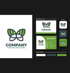 butterfly logo design inspiration vector image