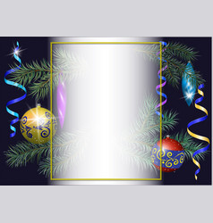 christmas festive background for your text vector image
