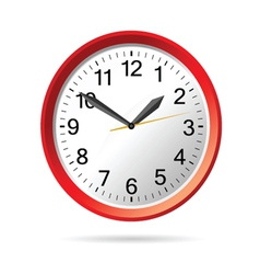 clock in red vector image