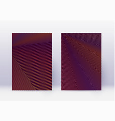 Cover design template set abstract lines modern b vector