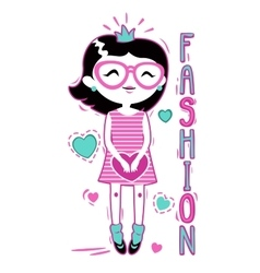 Cute fashion girlish vector