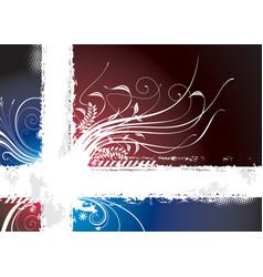 dark floral vector image