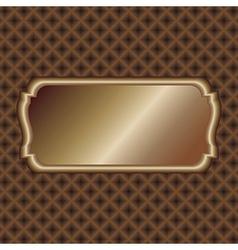 Dark-gold-label vector