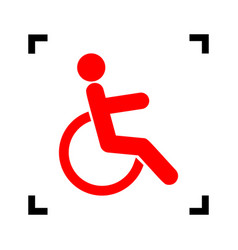 Disabled sign red icon vector