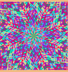 Dynamic colorful round mosaic pattern background vector