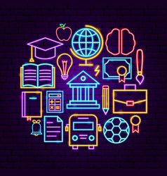 education neon concept vector image