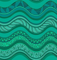 ethnic seamless pattern waves vector image
