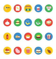 Food icons 7 vector
