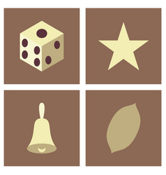 Gambling icons set card and casino poker game vector