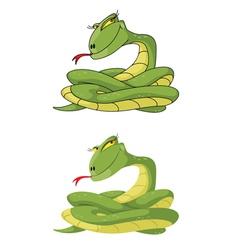 girl snake set vector image