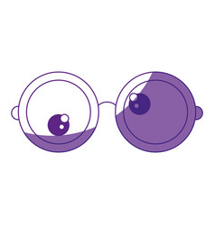 Glasses funny eyes vector