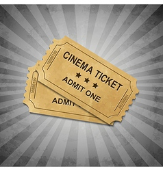 Grey Grungy Background With Tickets vector image