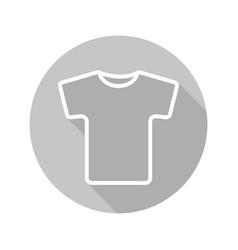 grey t-shirt flat linear long shadow icon vector image