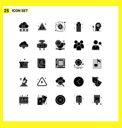 Group 25 modern solid glyphs set for boosting vector