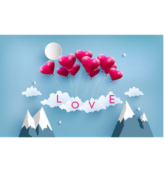 Happy valentine love balloons vector