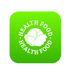 health food icon green vector image
