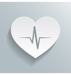 Heart beat rate icon vector