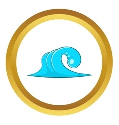 High ocean wave icon vector