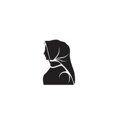 Hijab black logo vector