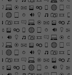 Icons pattern vector
