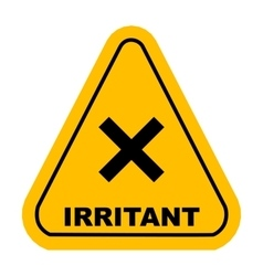 irritant sign vector image