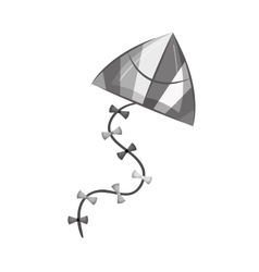 kite flying toy isolated icon vector image
