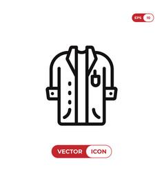 lab coat icon vector image