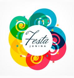 Latin american festival festa junina holiday vector