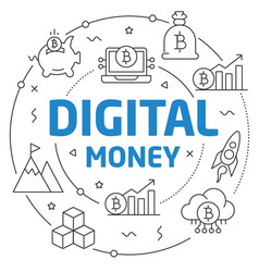 lines digital money vector image