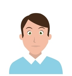 Man character facial expression vector