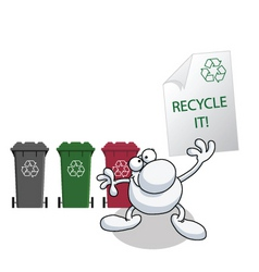 man recycle it vector image