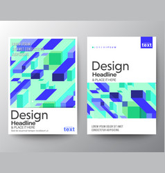 modern minimal abstract purple blue block shape vector image
