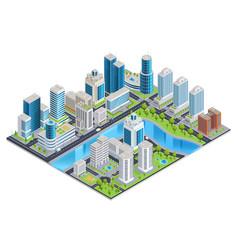 Modern urban isometric landscape vector