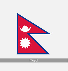 Nepal nepalese national country flag banner icon vector