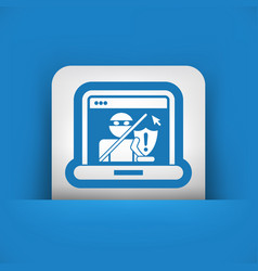 pc protection vector image