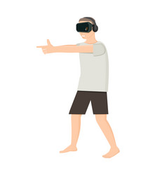 Playing shooter in virtual reality vector