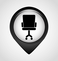 pointer office icon vector image
