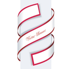 Red and white paper sale arrow vector image