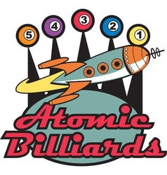 Retro Billards Pool Signs vector