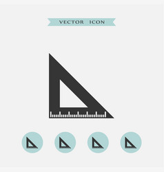 ruler icon simple vector image