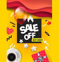 Sale banner design template color geometric vector