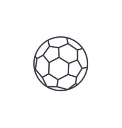 Soccer ball football thin line icon linear vector