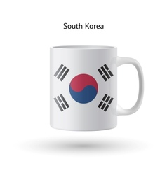 South Korea flag souvenir mug on white background vector