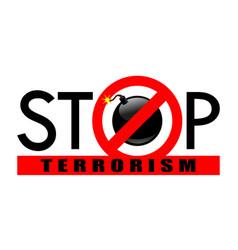Stop terrorism 2 vector
