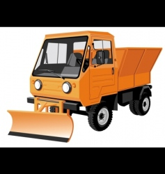 street cleaning lorry vector image