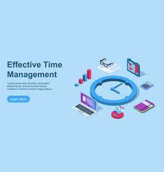 Time management concept can use for web banner vector